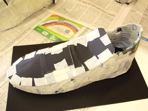 Paper Mache Shoes Crafts